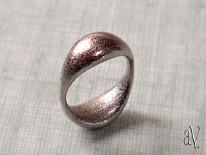 Double Globe Ring in Polished Nickel Steel: 6 / 51.5