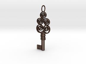 Friggjarlykill #4a  - Key of Frigg in Matte Bronze Steel