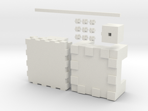 Minecraft Shulker in White Strong & Flexible