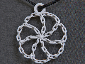 Chain Link Pendant in White Strong & Flexible Polished