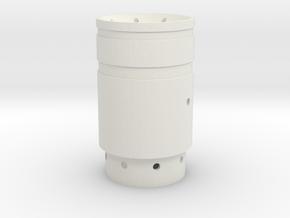 Saber 1 Emitter in White Natural Versatile Plastic