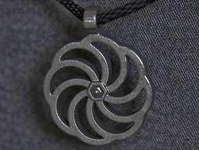 Wheel Of Eternity Pendant in Polished and Bronzed Black Steel