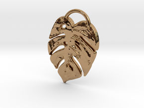 Tropical leaf mini in Polished Brass