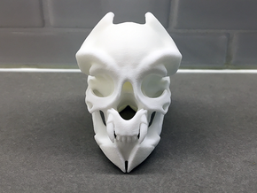 Miniature alien skull in White Natural Versatile Plastic