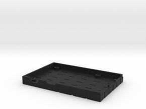 Retropie Bottom (1/2) in Black Natural Versatile Plastic