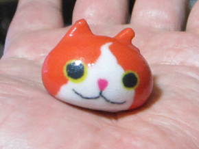Yo Cat  in Coated Full Color Sandstone