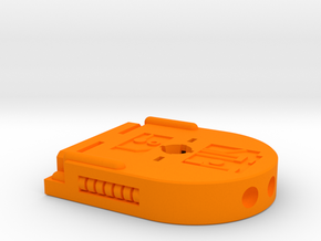 Turret Gun Baseplate in Orange Processed Versatile Plastic