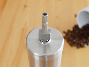 Coffee Grinder Bit For Drill Driver CDS-L in Polished Bronzed Silver Steel