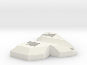 PsyPad keychain in White Natural Versatile Plastic