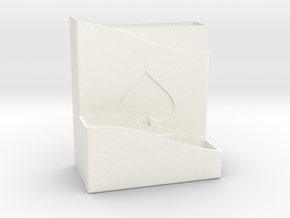 Card Holder in White Strong & Flexible Polished
