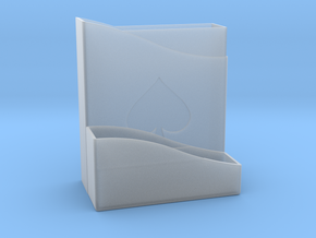 Card Holder in Smooth Fine Detail Plastic