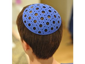 Yarmulke One in Blue Processed Versatile Plastic