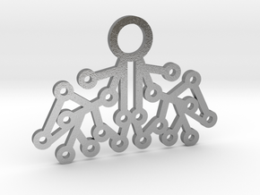 Electrode Pendant in Natural Silver