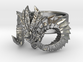 Diablo Ring (size - 2) in Natural Silver
