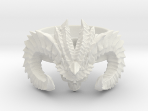 Diablo Ring (size - 2,5) in White Strong & Flexible
