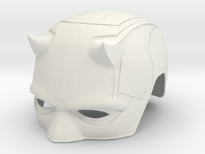 Daredevil Netflix: Season 2 cowl/helmet in White Natural Versatile Plastic