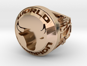 CHAMPION  Ring  Bulls.23 in 14k Rose Gold Plated Brass