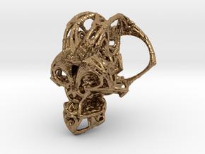 Fractal Cranium Silver 25mm in Natural Brass