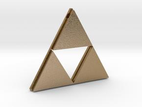 [Zelda] Triforce Pendant in Polished Gold Steel
