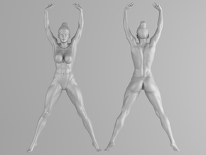 Fitness Girl 002 Scale 1/10 in White Strong & Flexible