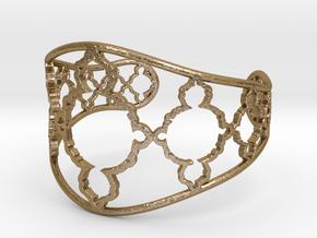 Mandelbrot Cuff in Polished Gold Steel