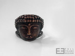 Buddha Ring (Multiple Sizes) in Polished Bronze Steel