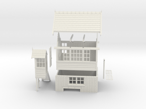 NS72 - Generic NSR Signal box in White Natural Versatile Plastic