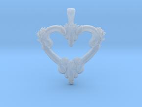 DickHeartPendant01 in Smooth Fine Detail Plastic