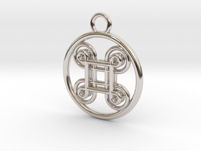 Hannunvaakuna 2.1 in Rhodium Plated Brass