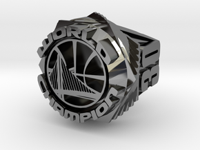 Curry Championship Ring  in Fine Detail Polished Silver