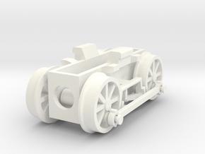 0e drive for Backer & Rueb steam loco in White Processed Versatile Plastic