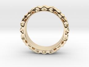 ShapeJS Volume Pattern Ring in 14k Gold Plated Brass