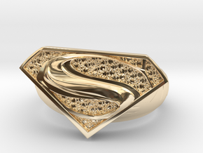 Superman Ring  in 14k Gold Plated Brass: 7 / 54