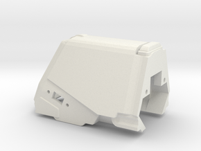 Display Housing in White Natural Versatile Plastic
