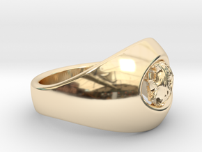 Ø0.699/Ø17.75 Mm Coral Fish Ring in 14k Gold Plated Brass