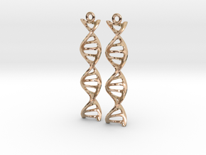 DNA Earrings in 14k Rose Gold