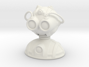 'Robust' robot bust design, model M7-004 in White Natural Versatile Plastic