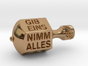 Nimm-Gib-Kreisel  in Polished Brass