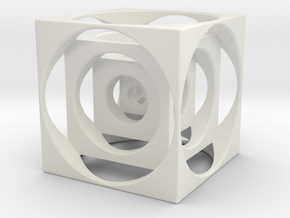 Turners Cube in White Natural Versatile Plastic