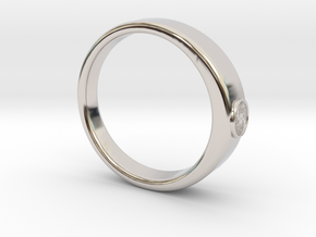 Ø0.707 inch/Ø17.97 mm Tree Of Life Ring  in Rhodium Plated Brass