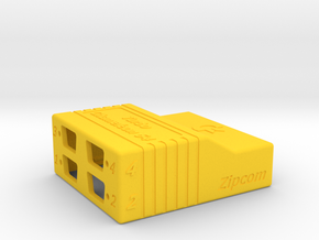 Chameleon 64 housing (body - part 1 of 2) in Yellow Processed Versatile Plastic
