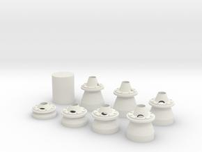 35mm combo pack 19,5 Cm  in White Natural Versatile Plastic