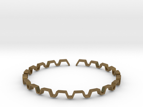 BETTER HALF Bracelet, Medium Size d=65mm in Natural Bronze: Small