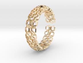 HQ Bracelet, Medium Size, d=65mm. Strong, Bold, Un in 14k Gold Plated Brass: Medium