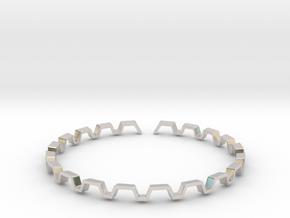 BETTER HALF Bracelet, Medium Size d=65mm in Rhodium Plated Brass: Small