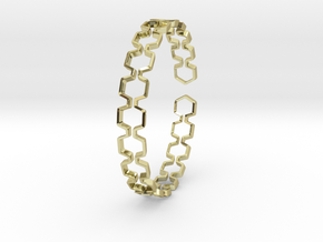 Honeyfull Bracelet 65mm in 18k Gold Plated Brass