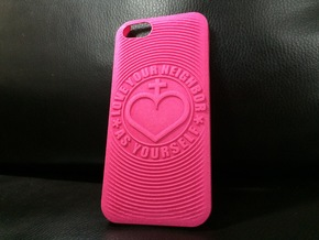 PS.23 Case - Original - LOVE YOUR NEIGHBOR AS ... in Pink Processed Versatile Plastic