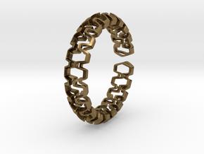 HD Bracelet, Medium Size, 65mm in Natural Bronze: Medium