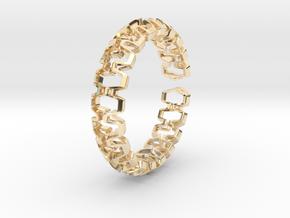 HD Bracelet, Medium Size, 65mm in 14k Gold Plated Brass: Medium