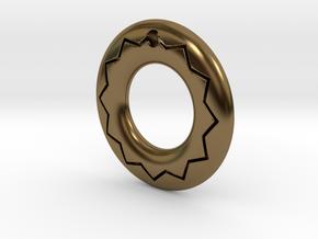Pendant02-zigzag in Polished Bronze